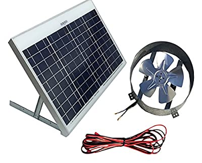Best Cheap Deal for Amtrak Solar Powered Attic Gable Fan Roof Ventilator Panel, 50W by Amtrak Solar - Free 2 Day Shipping Available