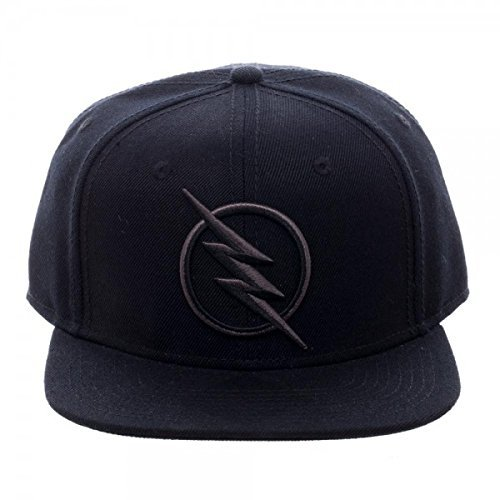Bioworld Official Snapback- Flash- Zoom Logo Black Snapback One Size (Dc Wool Cap)