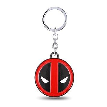 MINTUAN Nuevo Avenage Super Hero X-Men Deadpool Logo Llavero 4,5 ...