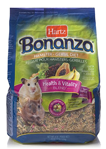 Hartz Bonanza Gourmet Hamster and Gerbil Small Animal Food - 4lb (Hamster Food Premium)
