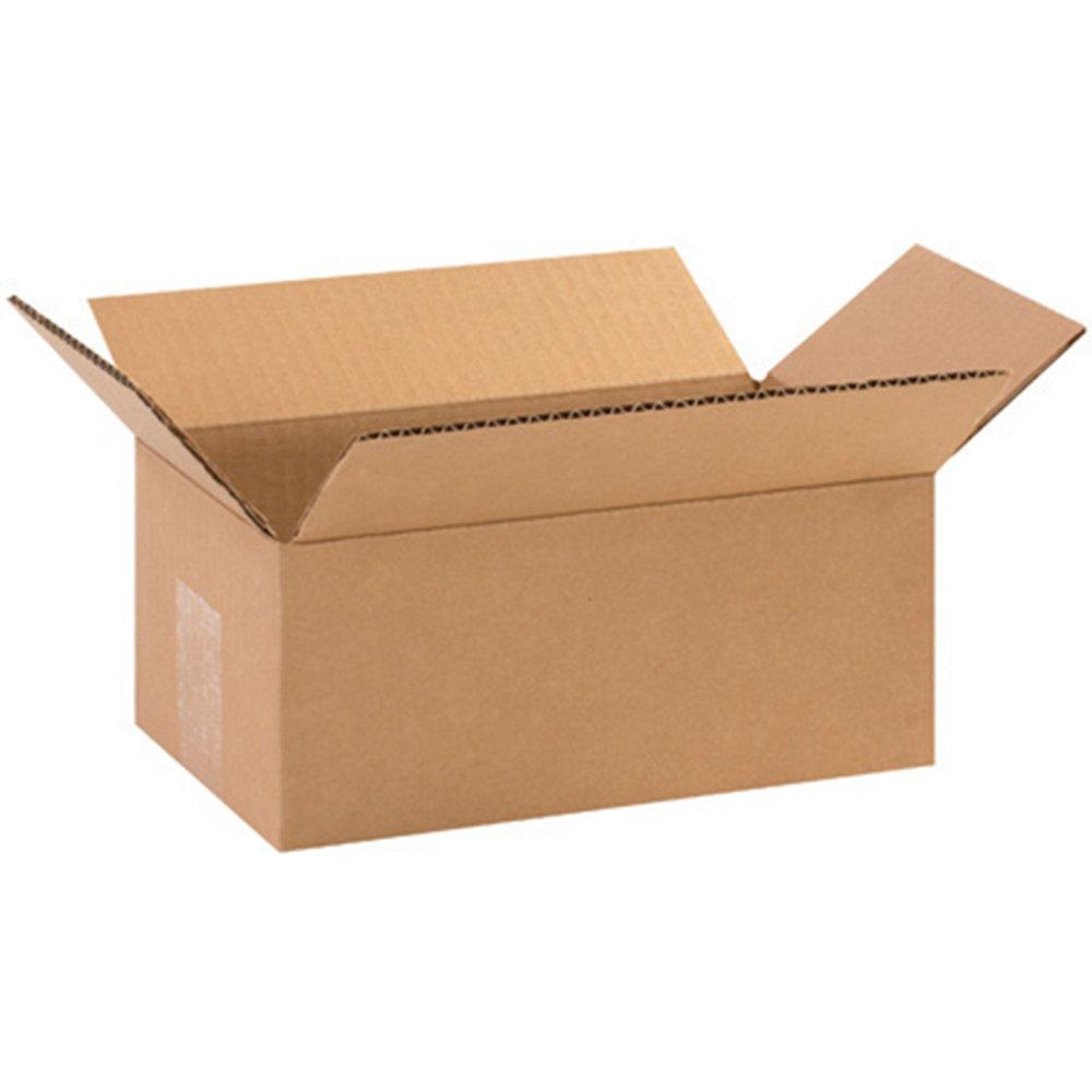Aviditi 1064 Corrugated Box, 10'' Length x 6'' Width x 4'' Height, Kraft (Bundle of 25)