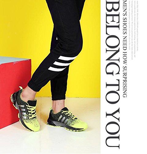 Uomo Donna Scarpe Da Sportive Running Basket Sneakers Estive Verde 42