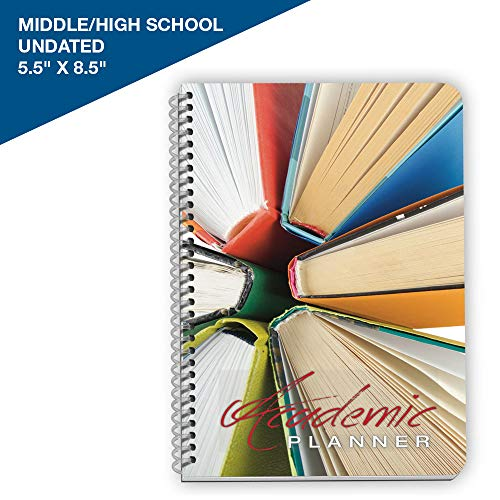 Undated Student Planner Middle School/High School/College - Assignment Agenda 5.5 by 8.5 Inches - by School Datebooks