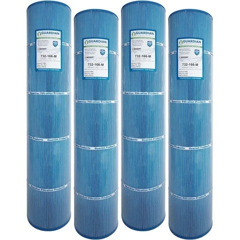 4 Guardian Antimicrobial Pool Spa Filter Replaces UNICEL C-7494 Hayward Swimclear Cx1280re C5025 PA131, Filbur FC-1227 Microban by Guardian Filtration Products