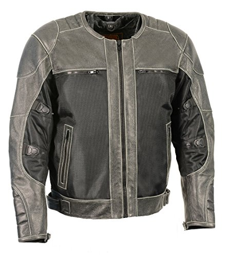 Milwaukee Performance Men's Mesh/Leather Combo Scooter Sp...