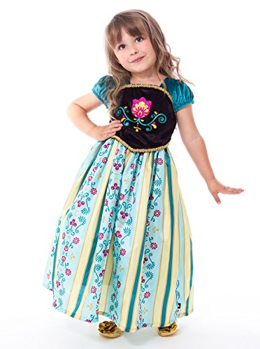 Little Adventures Scandinavian Princess Coronation Dress Up Costume (Medium Age 3-5) Green