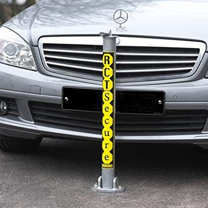 FULLY GALVANIZED MADE IN THE UK FOLD DOWN RCT SECURE SECURITY PARKING POST