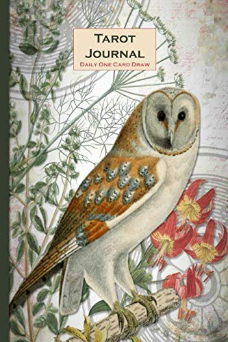 Tarot Journal – Daily One Card Draw: Owl - Beautifully illustrated 190 pages 6x9 inch notebook to record your Tarot Card readings and their outcomes. (Tarot Card Readings Journal) ()