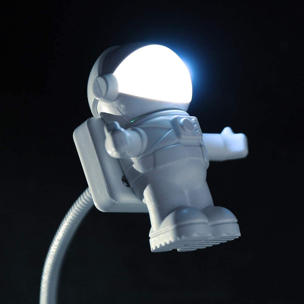 USB Reading Light Lamp, Creative Spaceman Astronaut Eye Care Flexible LED Lamp for Notebook, Laptop, Desktop, PC, and MacBook (Spaceman)