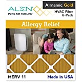 Alen Airnamic Gold Allergy Relief Filter, Merv 11, 20x25x1, 6-Pack HVAC/Furnace/AC Filter