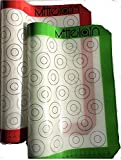 Mittelain Silicone Baking Mat (2 Pack) - with Mini Macaron Pattern - Made with materials from Germany - 53 Cookie Circles Per Sheet
