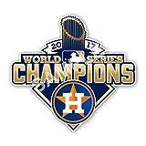 Houston Astros World Series Champions 2017 Wall Decal | 4 Size Vinyl Die Cut Helmet Poster | Houston Astros World Series Champions 2017 Emblem Patch (11' X 10.3')