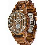 Wooden Watch For Men Maui Kool Kaanapali Collection Zebra Wood Watch Zebra Face Bamboo Gift Box
