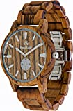 Wooden Watch For Men Maui Kool Kaanapali Collection Analog Large Face Wood Watch Bamboo Gift Box (C4 - Zebra Face)