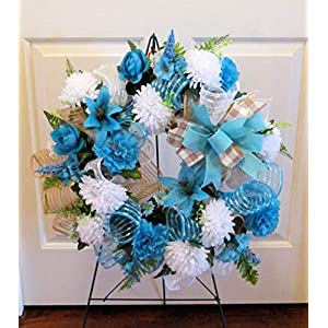 Summer Cemetery Wreath, Father's Day Cemetery Wreath, Summer Grave Wreath 3