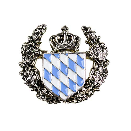 German Bavarian Hat Pin by E.H.G | Metal Deluxe Coat of Arms