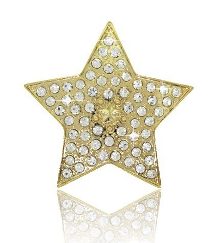 - HIP HOP BLING ICED OUT Gold Tone Star BELT BUCKLE