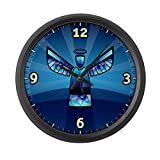Large Wall Clock Contemporary Abstract Stained Glass Angel