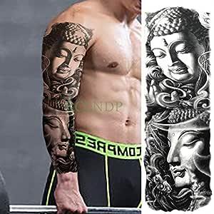 Handaxian Etiqueta engomada del Tatuaje 3pcs Buda Impermeable 3pcs ...