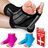 Plantar Fasciitis Compression Socks / Ankle Brace by 1st Elite- Pain Relief in Heels Foot Arch Achilles Tendon Support Night Splint Foot Sleeve for Women Men
