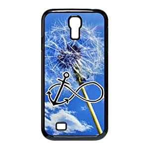 Custom dandelion with Infinity Anchor black plastic Case for SamSung Galaxy S4 I9500 at luckhappy store