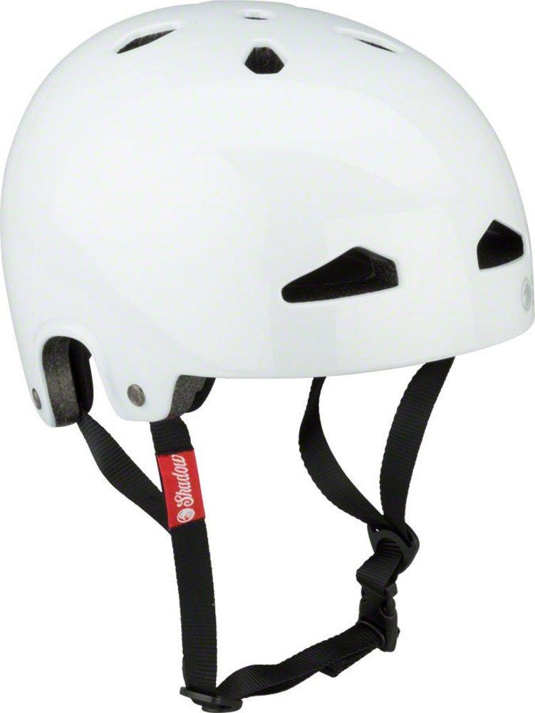 影の陰謀の羽毛製ヘルメット:グロスホワイトLG/XL   B07B5L2XRB