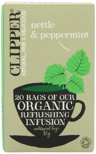 Clipper Organic Nettle and Mint Infusion 20 Teabags (Pack of 6, Total 120 Teabags)