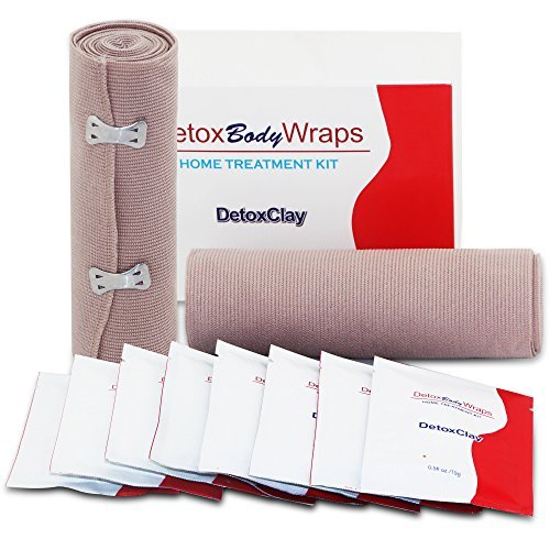 NEUTRIHERBS Detox Clay Body Wraps Body Powders Home Treatment Kit for Lose Inches Tone Tighten Reduce Cellulite