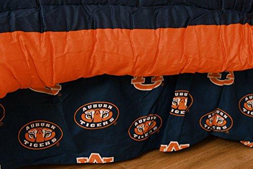 (College Covers Auburn Tigers Printed Dust Fashions Ruffle,)