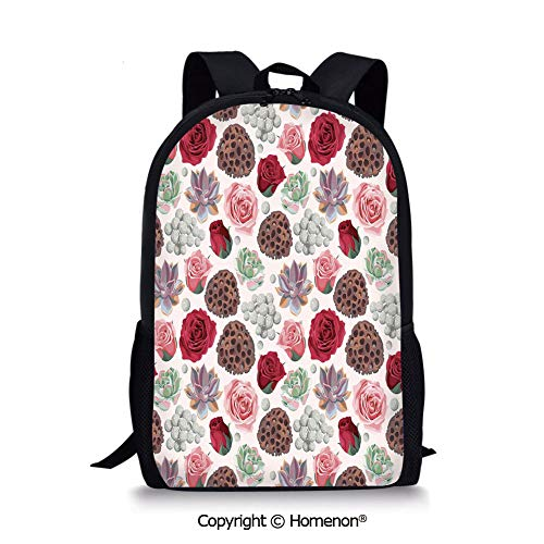 Multicolor,design Backpack Schoolbag Book Bag Teenagers Daypack(17.3