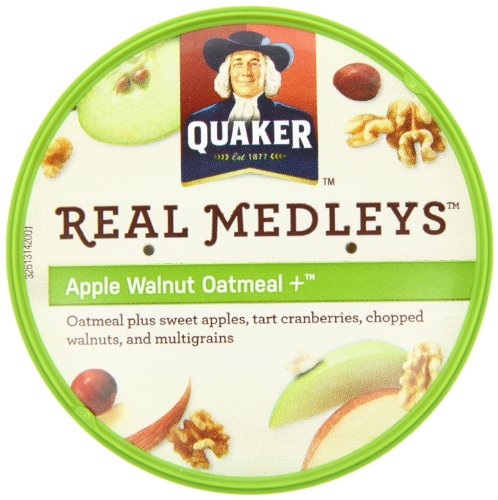030000315507 - Quaker Real Medleys Oatmeal+, Apple Walnut, Instant Oatmeal+ Breakfast Cereal, (Pack of 12) carousel main 9