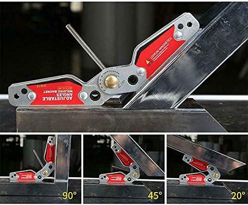 Lanbowo Angles r/églables de Support de Soudure magn/étique 20-200 aimants Outils de localisation de Pince dangle avec Une cl/é