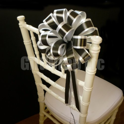 d Wedding Pull Bows with Tails for Church Pews and Chairs - 8