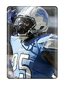 Ipad Air Hard Back With Bumper Silicone Gel Tpu Case Cover Detroit Lions