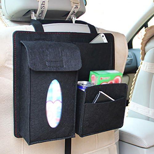 8.5cm LAAT Bolsa de Almacenamiento para Asiento de Coche Organizador para Coche Dise/ño para Asiento de Carro de Bote de Basura Size 32 Gris 28
