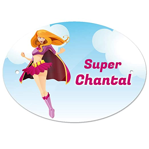 Eurofoto - Cartel para Puerta con Nombre Chantal y diseño de ...