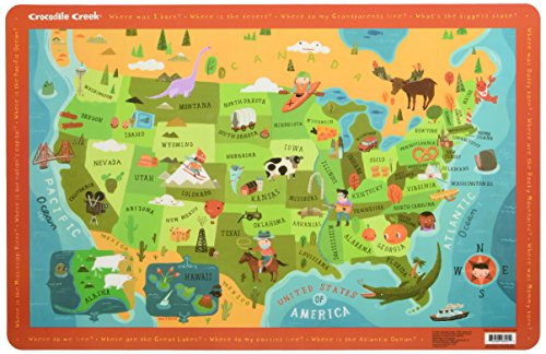 Crocodile Creek Placemat - USA (Crocodile Creek Usa Map)