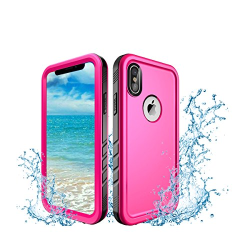- Oryxboost Waterproof Case for iPhone X, Protective Full Body Rugged Shockproof Slim Case with Built-in Screen Protector, Support Wireless Charger for iPhone X/10