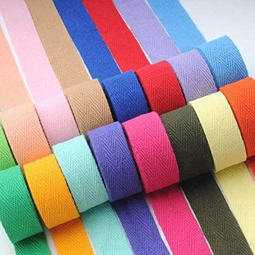 Color: 12 Khaki, Size: 2cm Halica 5 Yards New Colourful 20mm Chevron 100/% Cotton Ribbon Webbing Herring Bonebinding Tape Lace Trimming for Packing Accessories DIY
