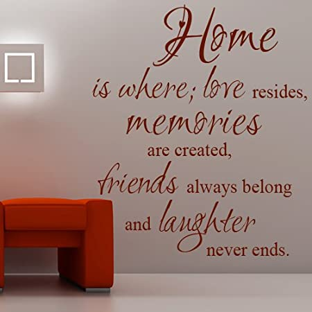 home where love resides memories are created family vinyl wall