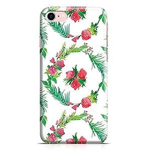 Loud Universe iPhone 7 Case Watercolor Rose Floral Wreath Patten Transparent Edge Durable Wrap Around iPhone 7 Cover