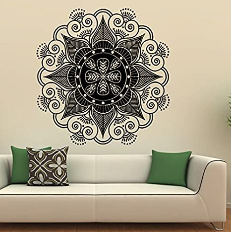 Xinyiwei indiano mandala Flower Wall Sticker camera da letto salotto ...