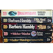 Barbara Hambly 5 Fantasy Book Collection: The Dark Hand of Magic ~ the Magicians of Night ~ the Witches of Wenshar ~ the Ladies of Mandrigyn ~ Dragonsbane