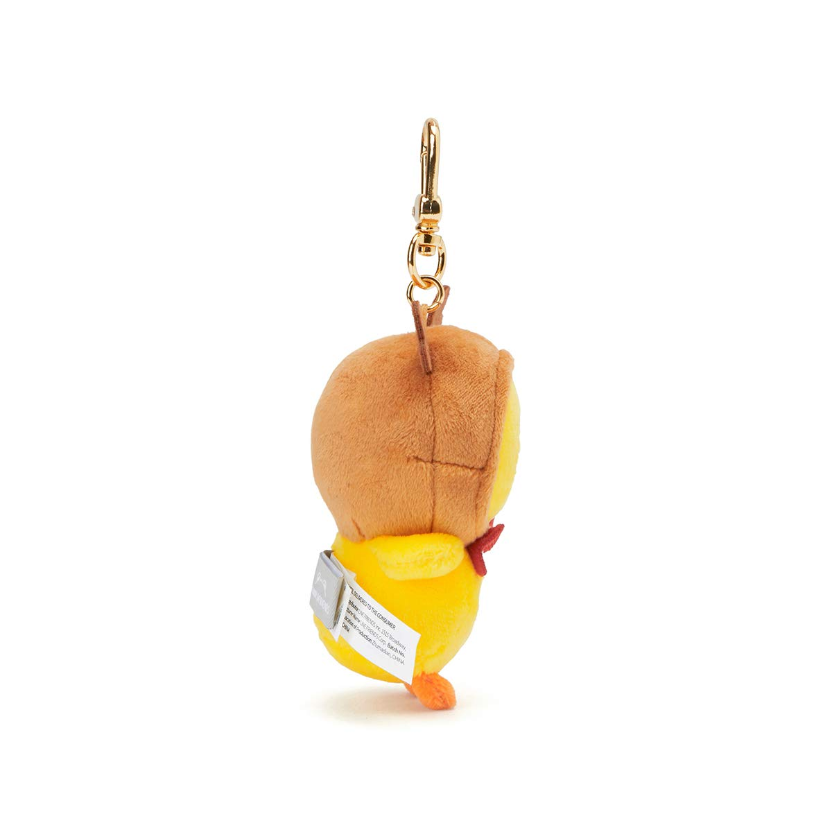 LINE FRIENDS Keychain - Sally Character Winter Bag Charm 4 Inches, Yellow