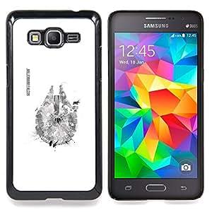 "Qstar Arte & diseño plástico duro Fundas Cover Cubre Hard Case Cover para Samsung Galaxy Grand Prime G530H / DS (Millenium Falcoln"")"