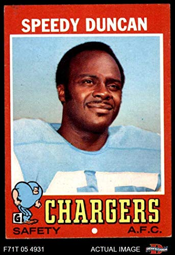 1971 Topps # 148 Speedy Duncan San Diego Chargers (Football Card) Dean's Cards 5 - EX Chargers