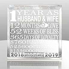 Traditional Modern 1st Wedding Anniversary Gifts For Women Men