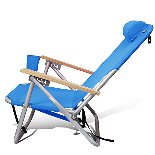 Beach and Camping Chair Lightweight Sturdy Aluminum Outdoor Backpack MultiPosition 4 Position by Copa