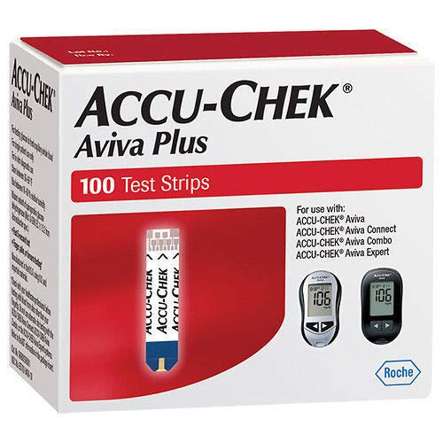ACCU-CHEK Aviva Test Plus Strips, 100 Count (Accu Chek Aviva Plus Nfr Test Strips)