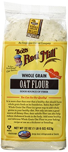 - Bob's Red Mill Flour Oat, 22-ounces (Pack of4)